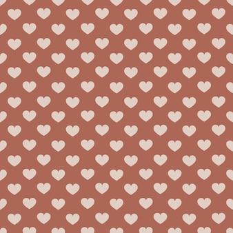 Boho naadloze patroon met harten. kan worden gebruikt voor textiel, verpakking, behang.