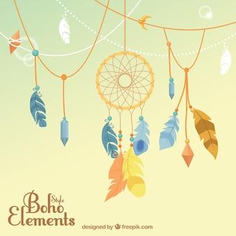 Boho ornamenten met dreamcatcher