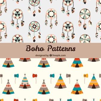 Boho-patronencollectie met hippie-elementen