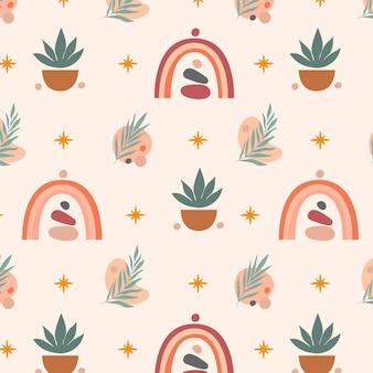 Boho-patroon met plat ontwerp
