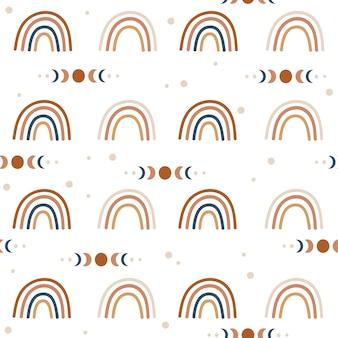 Boho regenbogen naadloze patroon.