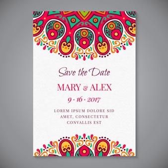 Boho stijl bruiloft uitnodiging