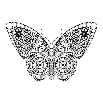 Boho stijl decoratieve vlinder