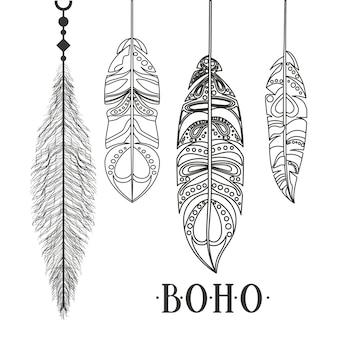 Boho stijl geïsoleerd pictogram ontwerp