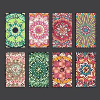 Boho stijl kaarten collectie