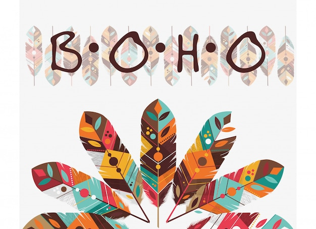 Boho-stijl ontwerp