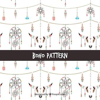 Boho-stijl patroon met platte ontwerp