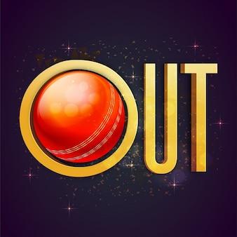 Bokeh achtergrond met cricket bal