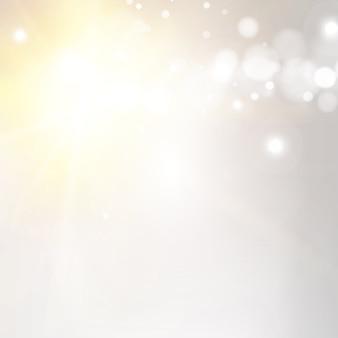 Bokeh achtergrond met stralen van de zon