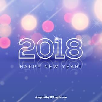 Bokeh achtergrond nieuw jaar 2018