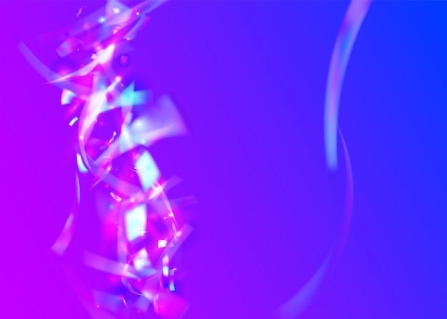 Bokeh-achtergrond. paarse partij textuur. fantasie folie. glanzend ontwerp. laser abstracte gradiënt. lichte schitteringen. feestelijke kunst. kristallen glans. blauwe bokeh-achtergrond Premium Vector