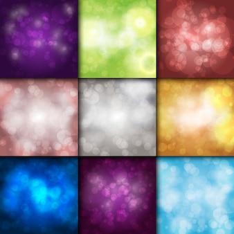 Bokeh achtergrond sprankelend effect warme wazig feestelijke partij lichten achtergrond gloed glitter glanzende achtergrond.