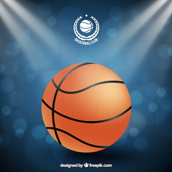 Bokeh achtergrond van het basketbal