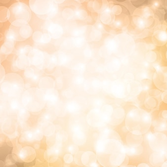 Bokeh beige achtergrond. sprankelende feestelijke achtergrond. ontwerp voor het begroeten van kerstkaarten. is onscherpe lichten. abstracte vectorillustratie.