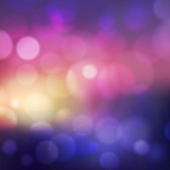 Bokeh-effect op de onscherpe achtergrond. abstracte compositie met gevlekt licht en kleur.