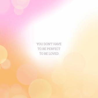 Bokeh-gradiëntachtergrond met motiverende quote