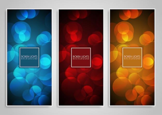 Bokeh licht banner s