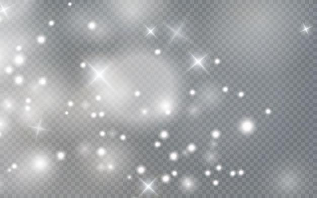 Bokeh licht lichten effect achtergrond kerst achtergrond van glanzend stof kerst gloeiend licht