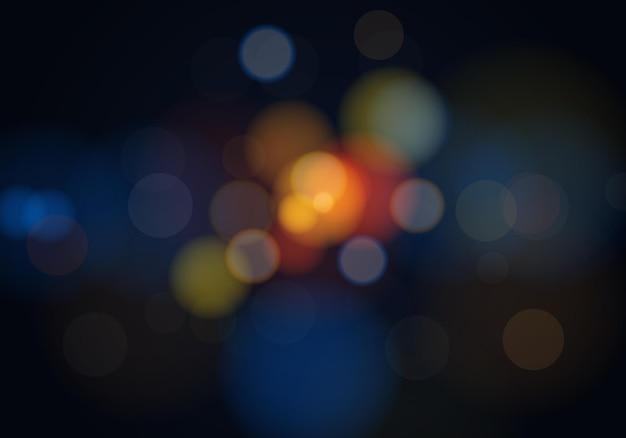 Bokeh lichte achtergrond. vector illustratie. abstracte achtergrond.