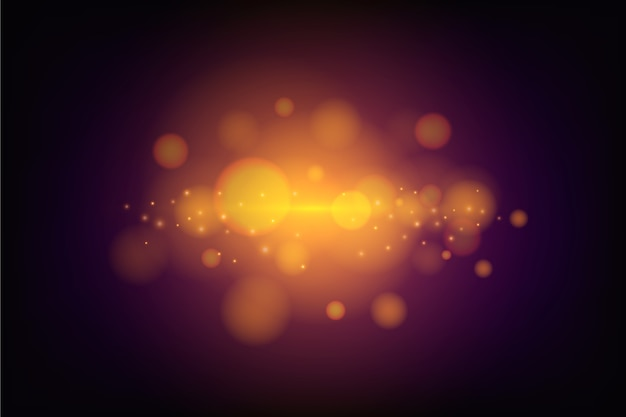 Bokeh-lichteffect op donker behang