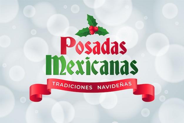 Bokeh posadas mexicanas achtergrond
