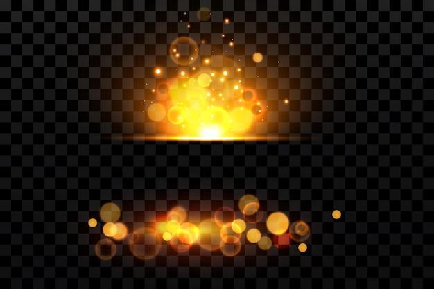 Bokeh schittert lichteffect, heldere deeltjes