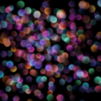 Bokeh vage lichten op donkere achtergrond.