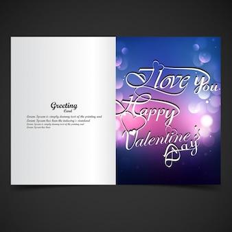Bokeh valentijnskaartenkaart