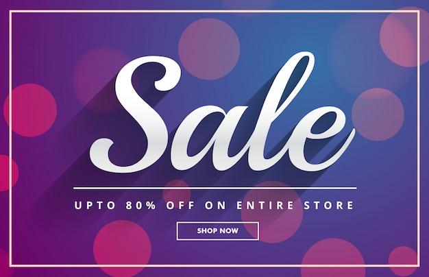 Bokeh verkoop voucher sjabloon ontwerp vector