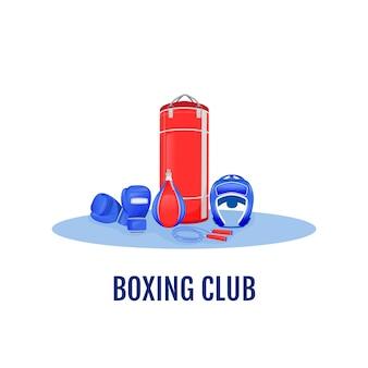 Boksen club platte concept illustratie