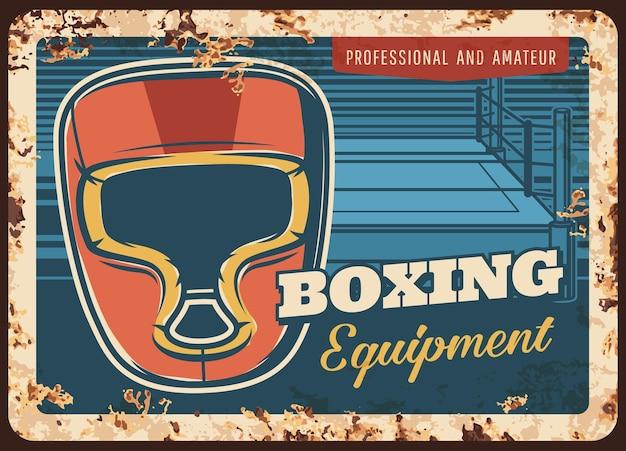 Boksen sport metalen plaat, sport vechtclubuitrusting