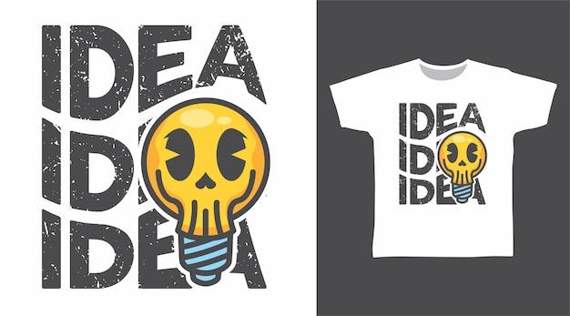 Bol schedel idee tshirt ontwerp