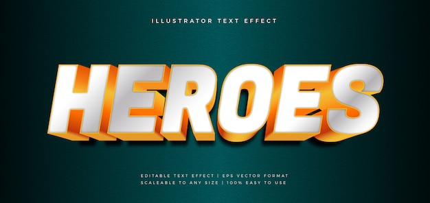 Bold heroes tekststijl lettertype-effect