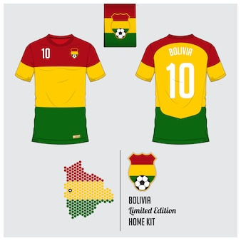 Bolivia voetbal jersey of voetbal kit sjabloon