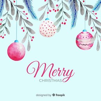 Bollen en maretak voor kerstmis