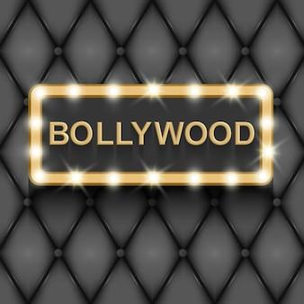 Bollywood cinema indiase film 3d klassieke filmbord gouden tekst in 3d