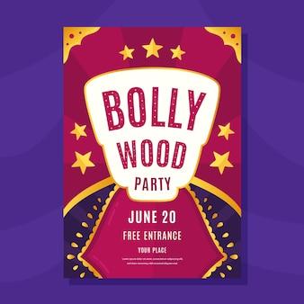 Bollywood partij flyer-sjabloon
