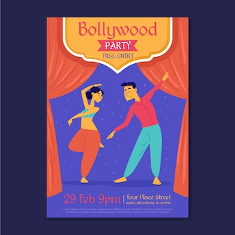Bollywood partij poster sjabloon