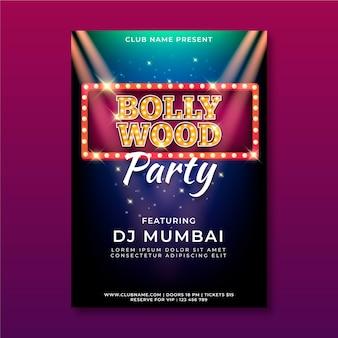 Bollywood partij poster sjabloon