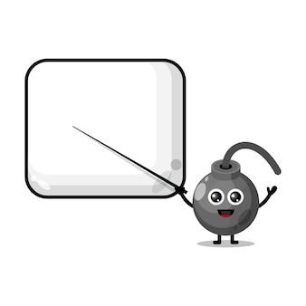 Bom wordt een schattige mascotte van een leraar