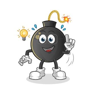 Bomb kreeg een idee-illustratie