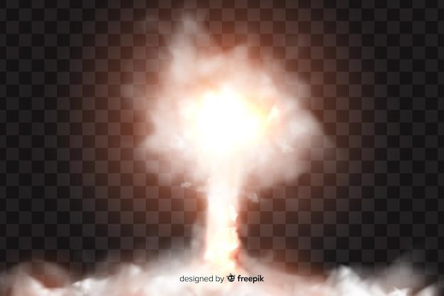 Bomb rook effect realistisch ontwerp