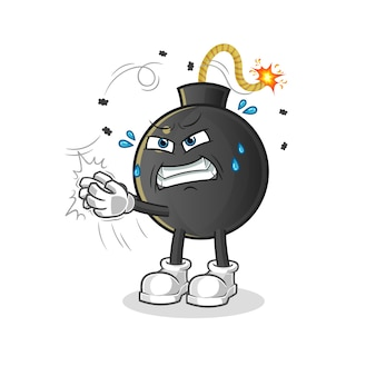Bomb swat the fly character illustration