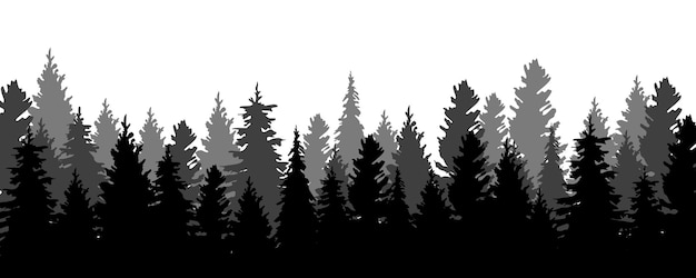 Bomen silhouetten achtergrond
