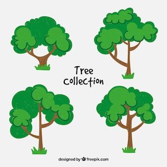 Bomencollectie in realistische stijl