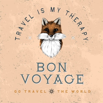 Bon voyage logo ontwerp vector