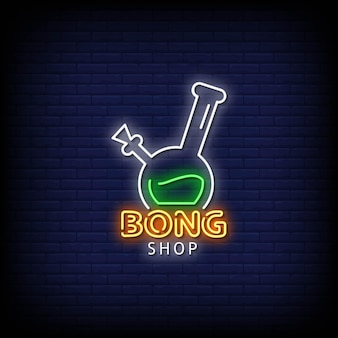 Bong shop neon signs style text