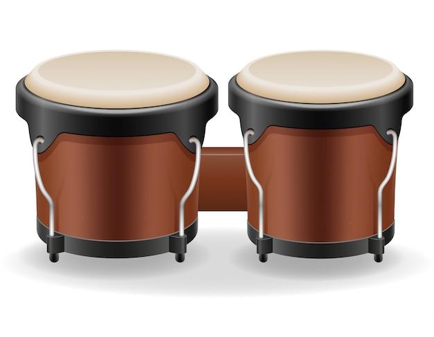Bongo drumt muziekinstrumenten op voorraad