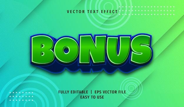 Bonusteksteffect, bewerkbare tekststijl