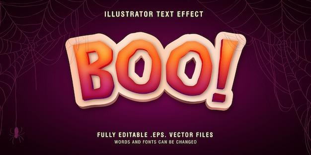 Boo-tekststijleffect volledig bewerkbaar